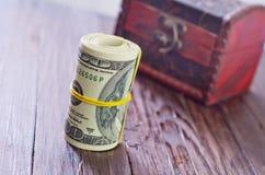 Roll from dollar Stock Photos