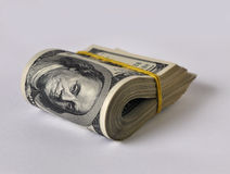Roll of dollars Stock Image