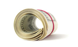 Roll of dollars. Royalty Free Stock Photo