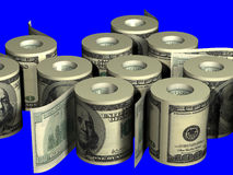 Roll of dollars Stock Photography
