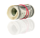 Roll of dollars Royalty Free Stock Image