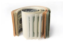 Roll of dollars Royalty Free Stock Photo