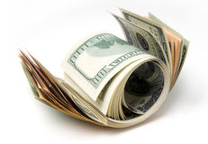 Roll of dollars Royalty Free Stock Photography