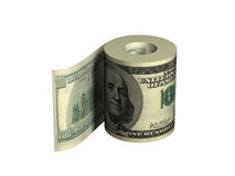 Roll of dollars. Roll of United States dollars Stock Photos