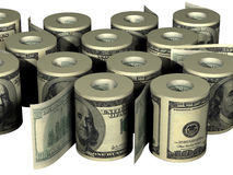 Roll of dollars. Roll of United States dollars Stock Photography