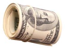 Roll dollars. Stock Photo