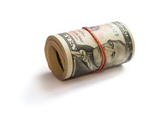 A roll of dollars Royalty Free Stock Photography