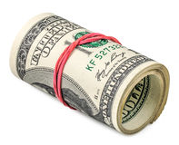 Roll of dollars Royalty Free Stock Images