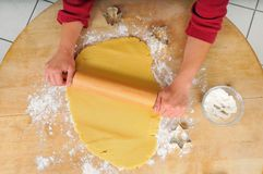 Roll the dough Royalty Free Stock Photo