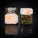 Roll Ebi Spicy Maki, spicy sauce Royalty Free Stock Images