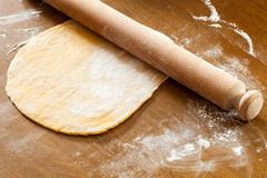 Roll The Egg Pasta Dough Royalty Free Stock Photo