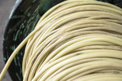 Roll of electical cable Royalty Free Stock Images