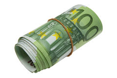 Roll of Euro banknotes Stock Images