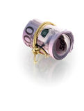 Roll of euro banknotes Royalty Free Stock Photography