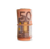 Roll of 50 euro bills Royalty Free Stock Image