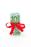 Roll of Euro money Royalty Free Stock Image