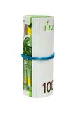 Roll of euros Royalty Free Stock Image