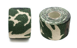 Roll of fabric camouflage tape Stock Photography