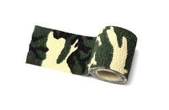 Roll of fabric camouflage tape Royalty Free Stock Photography