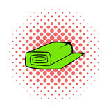 Roll of fabric icon, comics style Royalty Free Stock Photo