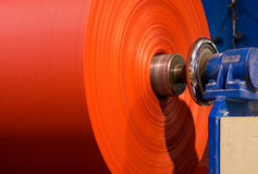 Roll of Fabrics. Fiberglass roll in a fabric factory Royalty Free Stock Photo