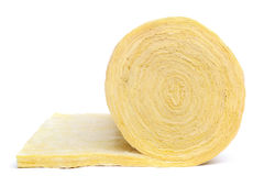 Roll of fiberglass insulation material