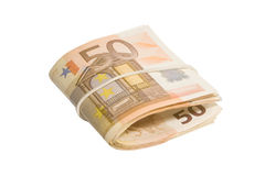 Roll of fifty euro bills Royalty Free Stock Photography