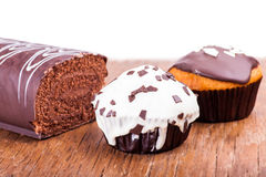 Roll filled and muffins Royalty Free Stock Image