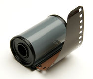 Roll of film. A roll of 35mm film stock image