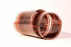 Roll of film. Roll of developed 35mm negative film Stock Photos