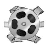 Roll of film. On a white background. 3d rendering Royalty Free Stock Photography