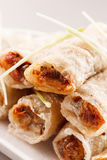 Roll food wrappers Royalty Free Stock Image