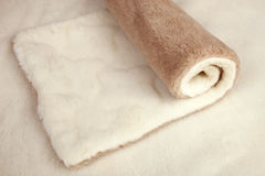 Roll of fur material stock image