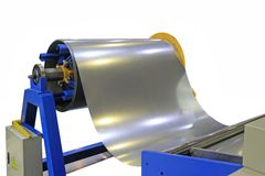 Feeder thin steel bending machine stock images