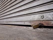 Roll gate is closed and locked Royalty Free Stock Image