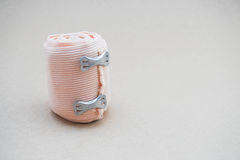 Roll of gauze. Roll of gauze for healthcare medical Stock Photo