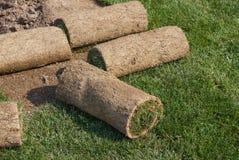 Roll grass Stock Photo