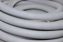 Roll of gray corrugated tube Stock Image