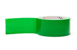 Roll of Green Adhesive Tape Royalty Free Stock Photography