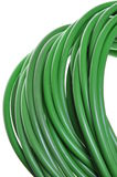 Roll of green network cables Royalty Free Stock Photos