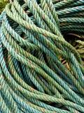 Roll of green nylon rope Stock Photo