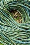 Roll of green nylon rope Royalty Free Stock Photo