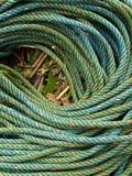 Roll of green nylon rope Royalty Free Stock Photos