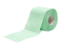Roll green toilet paper Royalty Free Stock Photography