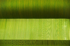 Roll of green  weave. Roll of green color weave Royalty Free Stock Image