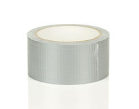 Roll of Grey Adhesive Tape Royalty Free Stock Image