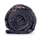 Roll grungy jeans Royalty Free Stock Image