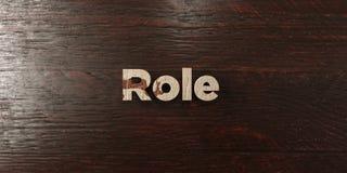 Roll - grungy trärubrik på lönn - 3D framförd fri materielbild för royalty Royaltyfria Bilder