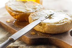 Roll honey bread food vintage Stock Photography