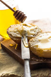Roll honey bread food vintage Royalty Free Stock Photo
